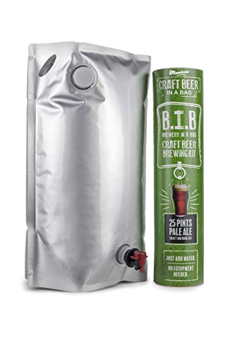 Muntons Craft Beer in a Bag Beer Making Kit | Craft Beer Brewing Kits for Home Brew | Pale Ale – Beer Kit with No Equipment Needed, Just Add Water, 25 Pints Brewed and Ready to Drink in 30 Days