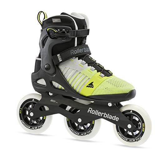Rollerblade Macroblade 110 3WD Herren Fitness Inlineskate, grau und gelb, Performance Inlineskates, 13