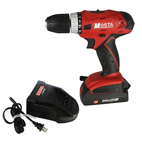 Mosta Cordless Drill/Driver 18V Lithium-Ion-LT18SB2A Kit with One Battery