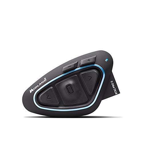MIDLAND BT X2PRO S シングル C.1414.10 バイク用インカム Bluetooth ヘルメットの中で音楽が聴ける 通話ができる 同時通話バイク4台まで可能 インターカムモード最大通信距離1200m ステレオ音楽を聴きながらインカム通話可能 ソロの場合 ステレオ (A2DP) 2回線同時使用可能 高音質Hi-Fiスピーカー標準搭載 最新ノイズキャンセルMW