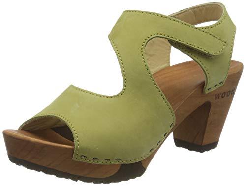Woody Hannah, Mules Mujer, Verde (Kiwi 069), 38 EU
