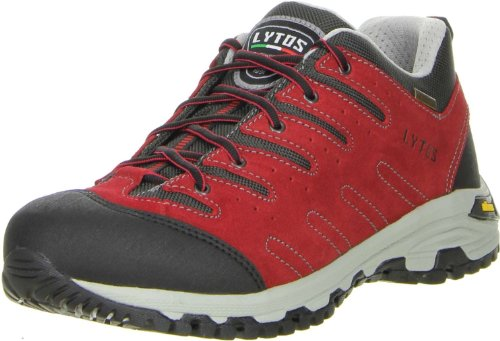 LYTOS Damen Herren Wanderschuhe Trekkingschuhe rot, Größe:47;Farbe:Rot