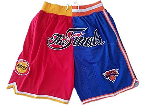 IFYG Pantalones de baloncesto Lakers Pacers Warriors Heat Pocket Bordado Shorts Retro Pantalones de baloncesto XL D