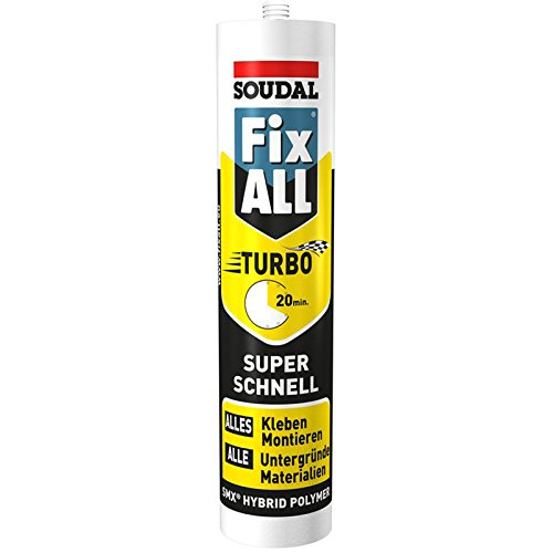 Soudal 122237 Konstruktionsklebstoff Fix ALL TURBO 290ml mit schneller Verklebung