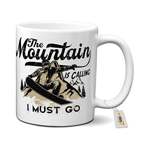 getshirts - Rahmenlos® Geschenke - Tasse - Sport - Snowboard - Mountain is Calling - FS0 - Uni Uni
