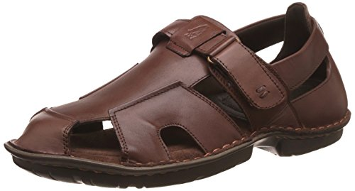 Hush Puppies Men's New Decent Softy Brown Leather Sandals...
