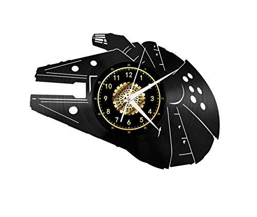 CNLSZM 3D Retro Vinyl Wanduhr Kreative Schallplatte Wanduhr Interstellare Stille Uhr Dekoration Geschenke-No LED