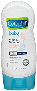 Cetaphil Baby Wash and Shampoo with Organic Calendula, 7.8 Ounce (7.8 Ounce (Pack of 3))
