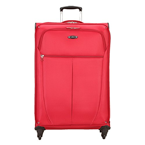 Skyway Luggage Mirage Superlight 28-Inch 4 Wheel Expandable Upright, Formula 1 Red, One Size, Checked-Large