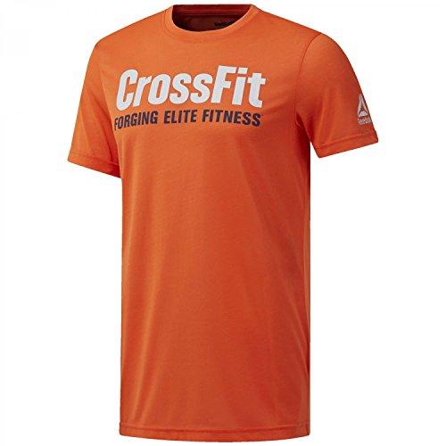 Reebok RC Fef Speedwick Camiseta, Hombre, Naranja (brglav), XS
