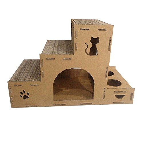 WWWWW huisdier nest kat klimmen kat zand tegel kat nest kat huis meerlagige kat nest pad platform en kat voedsel rack milieu klimmen frame kat nest huisdier bed
