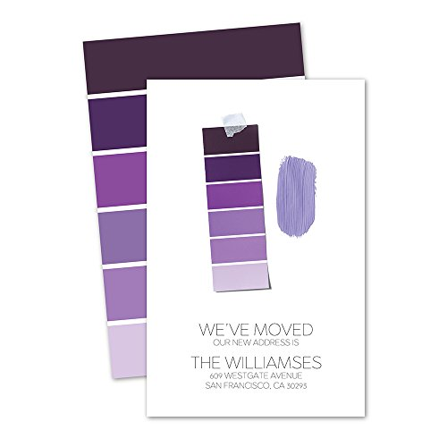 Paint Swatches Personalized Moving Announcement - Pink
