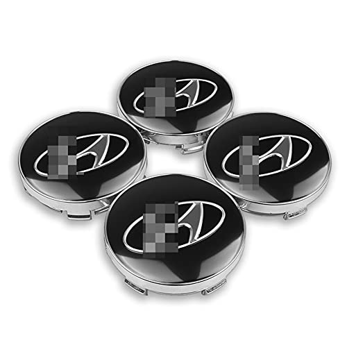 GAOJIA 56 + 60 mm Coche de Ruedas de automóvil Caps Caps Badge Emblem Rims Cubiertas Pegatina Compatible con Hyundai I30 I20 I40 Elantra Tucson Sonata Verna Creta (Color : For Hyundai)