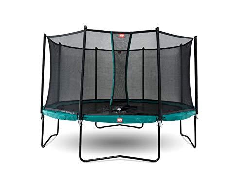 Berg Trampolin Champion 380 inklusiv Sicherheitsnetz Comfort | Gartentrampolin, mit Airflow und TwinSpring, Trampolin Outdoor mit Sicherheitsnetz, Trampolin Kinder, Kinder Trampolin für den Garten