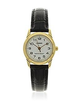 Casio Women s LTPV001GL-7B Black Leather Quartz Watch