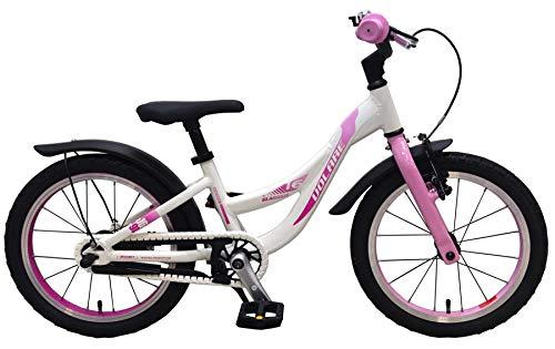 Volare Glamour Kinderfahrrad - Mädchen - 16 Zoll - Perlmutt Rosa - Prime Collection