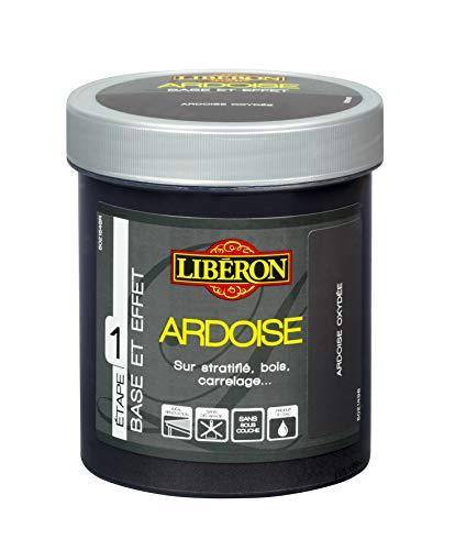LIBERON Effet ardoise pour stratifié, bois, carrelage…, Noir magma, 500mL