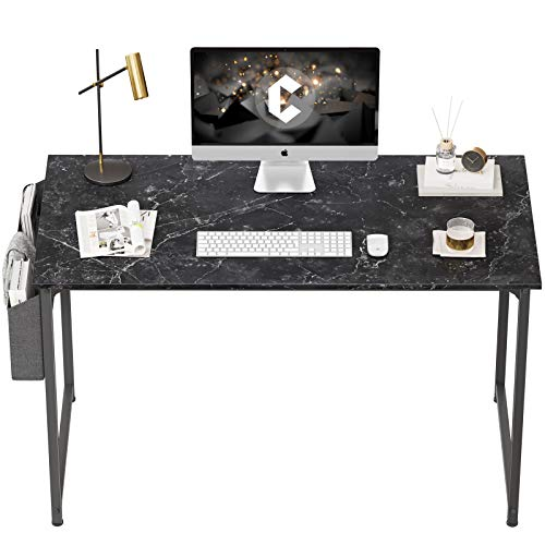 """CubiCubi Computer Desk 47"""" Study Writing Table for Home Office, Industrial Simple Style PC Desk, Black Metal Frame,OO"""