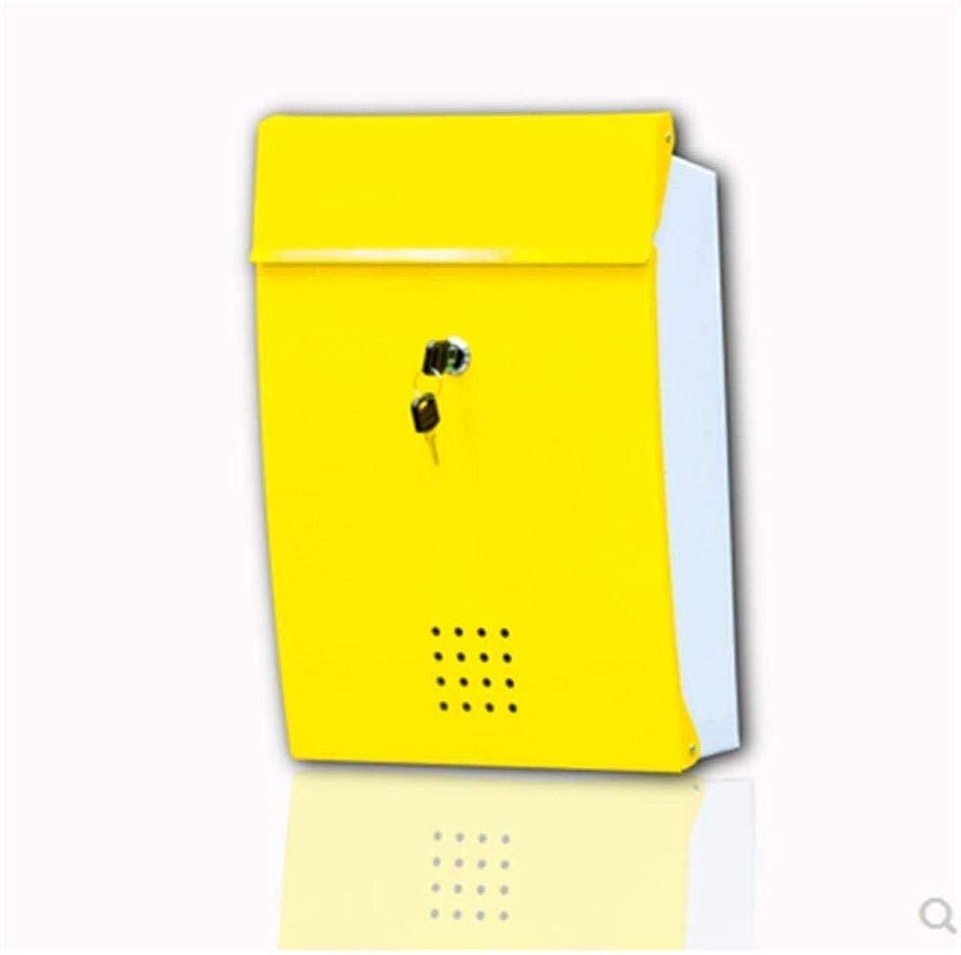 揮発性キリマンジャロかごレターボックスメールボックスメールボックス屋外錆や全天候垂直ウォールマウントシンプルなメールボックス (Color : Red, Size : Free size)