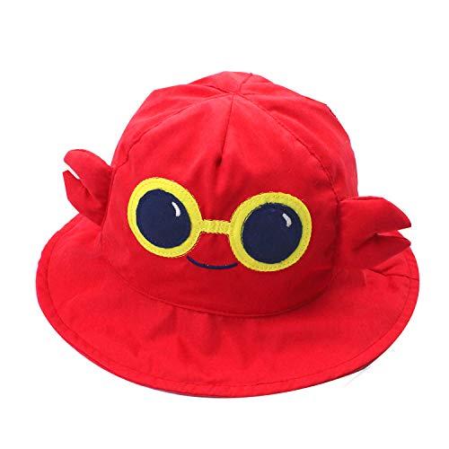 Cappello da sole Bob per bambino, unisex, in 100% cotone, pieghevole, anti-UV, per spiaggia, estate, viaggio, motivo: animali Carbia 50