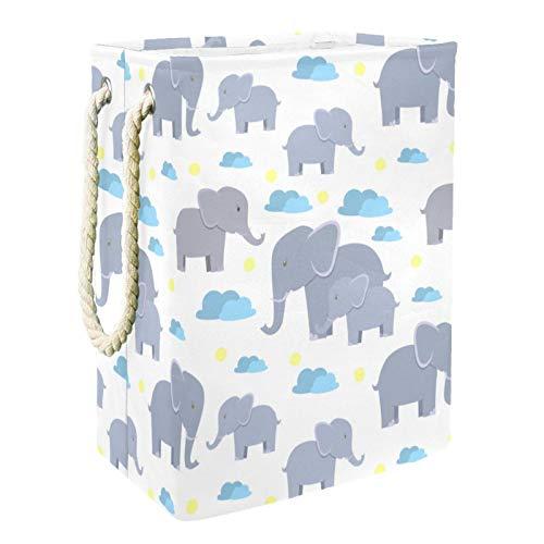 Cestas De Almacenamiento De Juguetes Elefantes de dibujos animados Cesta de Almacenamiento Cesto de la Ropa Impresión Canasta de Juguete Para Ropa Juguetes Toallas 49x30x40.5 cm