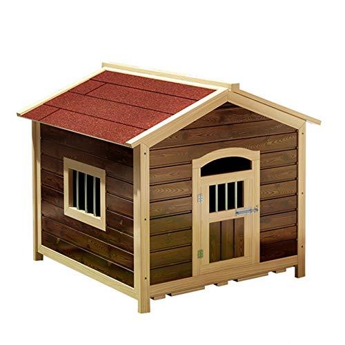 XIAOSAKU Perrera para Perros Gatos Caja de Pet del Panel, con la Puerta de la Mascota con Llave.De pie.Casa Interior y Exterior para Mascotas....