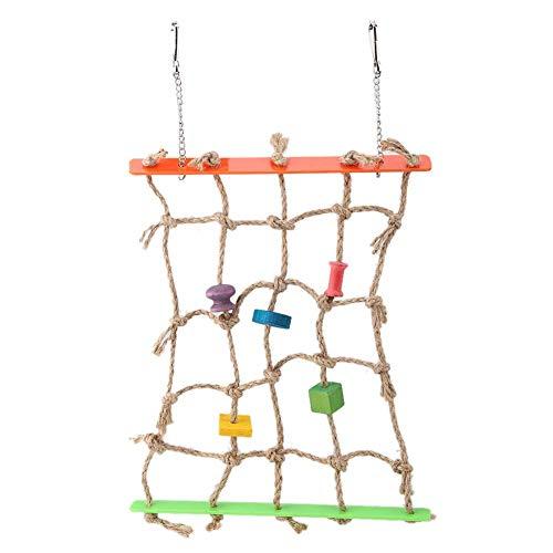 Papegaai hangend speelgoed, vogel kauwspeelgoed papegaai speelgoed speelnetje met hanger