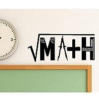 数学教室デカール学校教育数学クラスの装飾教師の装飾ビニールステッカー壁紙99x42cm