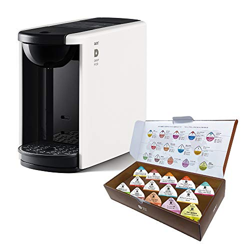 【Amazon.co.jp限定】UCC ドリップポッド 一杯抽出 コーヒーマシン カプセル式 DP3 ホワイト + UCC ドリップポッド お試しカプセル14個 ポッド・カプセル