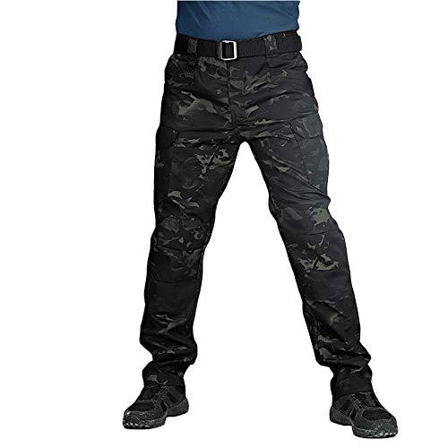 ORANDESIGNE Pantalon Tactique pour Hommes Etanche Cargo Pantalon élasticité...