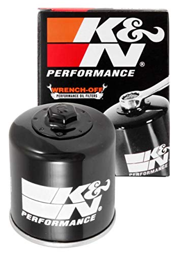 K&N Motorcycle Oil Filter: High Performance, Premium, Designed to be used with Synthetic or Conventional Oils: Fits Select Kawasaki Vehicles, KN-128