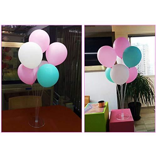 CJMING 3Pcs Balloon Stand Kit Sets, Ballon Plastic Holder, Pole Balloon Stick Balloon Tree Holder Balloons Accessory for Party Birthday Wedding Christmas