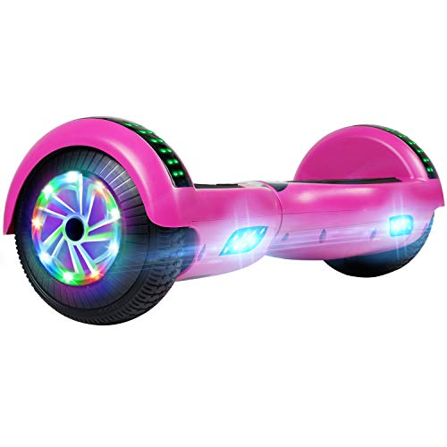 UNI-SUN 6.5'' Hoverboard for Kids, Self Balancing Hoverboard with Bluetooth and LED Lights, Bluetooth Hover Board, Purple