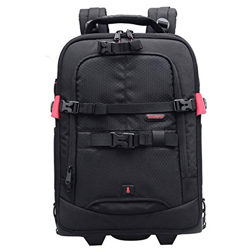 DFGRFN Digital Camera Backpack,Large Capacity Travel Backpack,Photography Trolley Suitcase Travel Backpack,Professional Gear Photography Bag,Black-32 * 25 * 50cm