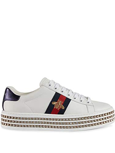 Luxury Fashion | Gucci Dames 505995DOPE09095 Wit Leer Sneakers | Seizoen Permanent