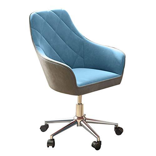 WSDSX Silla Gaming Barata,Silla giratoria ergonómica con Soporte Lumbar, Altura Ajustable para Silla de Oficina, Respaldo Medio, Azul
