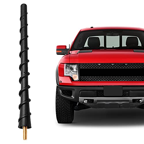 VOFONO Flexible Rubber Replacement Compatible with Dodge Ram 1500 (2009-2021) Antenna | 7 Inch Car Wash Proof Internal Highly Conductive Copper Core Antenna, Designed for Optimized FM/AM Reception