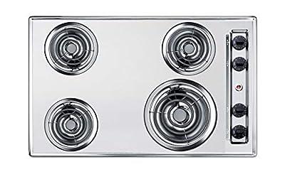 Summit ZEL05 30 Inch Wide 4 Burner Electric Cooktop