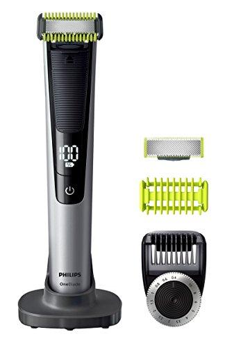 Philips qp6620/20A Secco e umido Nero, Cal, Argento Epilatore per la barba–depiladoras per la barba, 0,4mm, 1cm, Nero, Cal, Argento, Batteria, 90min, agli ioni di litio)