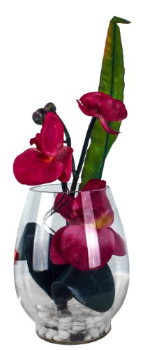 Kunstblume im Glas, Deko, Seidenblume, Blumen, künstliche Blume, Kunstpflanze B1011