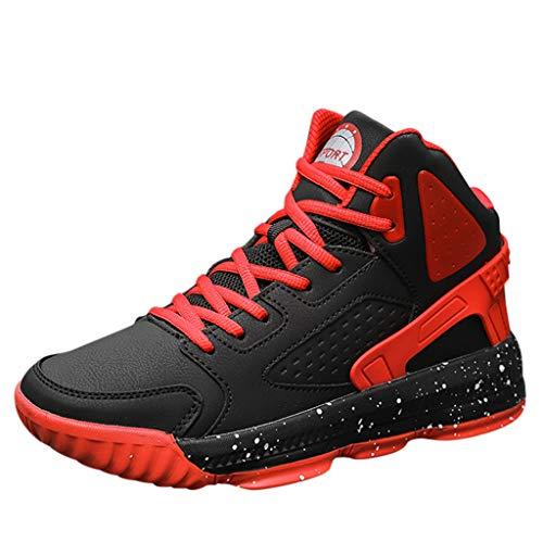 Makalon Herren Basketball Schuhe Draussen Sportschuhe, Mann Atmungsaktiv rutschfeste Sneker Performance Turnschuhe Stoßdämpfung Trainer Stiefel Laufschuhe Fitnessschuhe Freizeit Schuhe