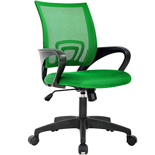Home Office Chair Ergonomic Desk Chair Mesh Computer Chair with Lumbar Support Armrest Adjustable Rolling Swivel Chair for Women Adults, Green
