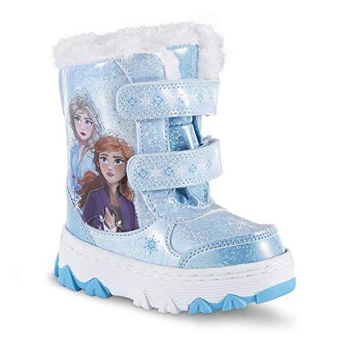 Girls Disney Frozen Cowboy Boots Winter Ankle Silver Sequin Elsa Bow Silver Snow