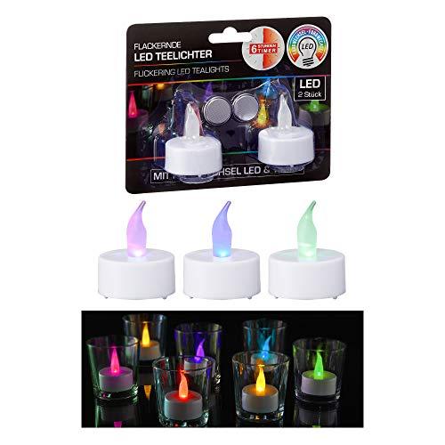 6 x 2er Set LED Teelicht mit Farbwechsel Lichtspiel Partylicht (6 x 2er-Set LED Teelicht)