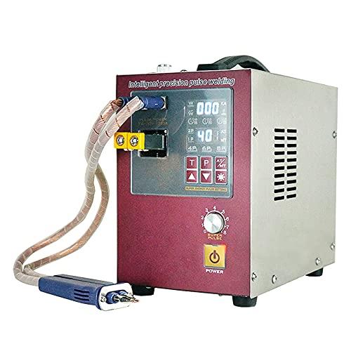 Máquina de soldadura por puntos de pulsos automática de 4,3KW de potencia, soldador por puntos con retardo de inducción para batería 18650 con bolígrafo soldador manual,110v