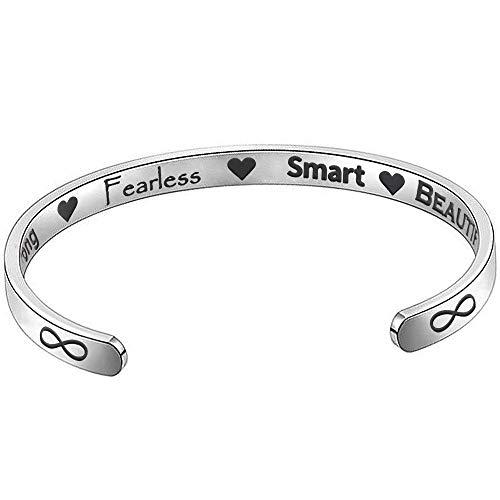 Suyi Inspirational Bracelet for Women Personalized Gift Cuff Bracelet...