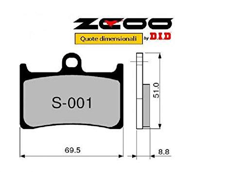 45S00100 PASTIGLIE FRENO ZCOO (S001 EX) YAMAHA MT-09 850 - ABS - TRACER 2013-2016 (ANTERIORE)