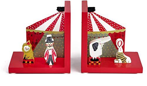 Mousehouse Gifts - Kinder 3D-Zirkus-Buchstützen - aus Holz - für Mädchen & Jungen