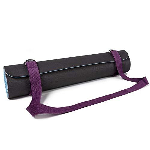 #DoYourYoga Yogamatten-Gurt »Yuki, praktischer Verstellbarer Transportgurt für alle gängigen Yoga-, Pilates- und EXTRA-DICKEN Fitnessmatten, Lila