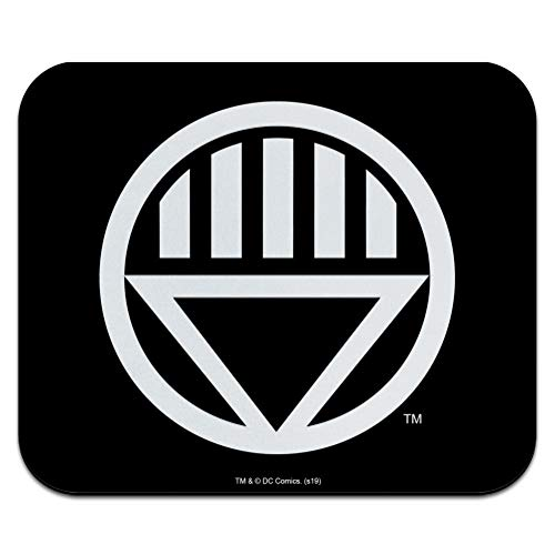 Green Lantern Blackest Night Black Lantern Logo Low Profile Thin Mouse Pad Mousepad